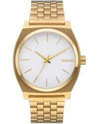 The Time Teller marrón Nixon de color Metallic