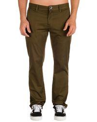 Frickin Modern Stretch Pants verde Volcom de hombre de color Green