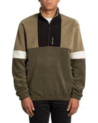 Trekker Sherpa Crew Sweater verde Volcom de hombre de color Green