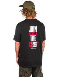 Join The Club T-Shirt negro Stance de hombre de color Black