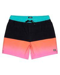 Fifty50 Layback Shorts rosado Billabong de hombre de color Multicolor