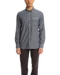 Officine Generale - Gray Button Down Japanese Oxford Selvedge for Men - Lyst