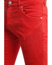 Balmain Red Vintage Jeans for men