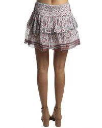 Poupette Multicolor Honey Mini Skirt White Pink