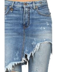 R13 Blue Double Classic Shredded Jeans