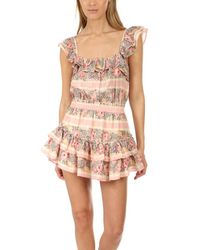 LoveShackFancy Pink Marina Dress Ribon