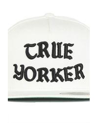 Blue&Cream True Yorker Snapback White/black Og Letters for men