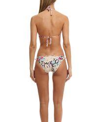 Zimmermann Multicolor Posy Scallop Frill Triangle Bikini