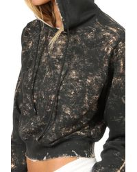 Cotton Citizen Gray Milan Hoody W/ Gringing Charcoal