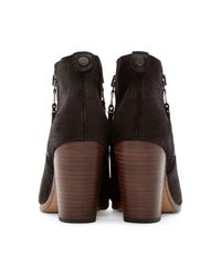 Rag & Bone Black 'margot' Bootie