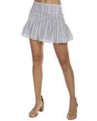 LoveShackFancy Blue Camilla Skirt