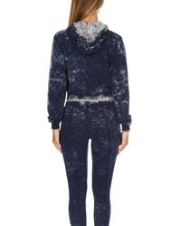 Cotton Citizen Blue Milan Cropped Pullover Hoody