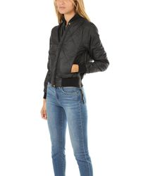 NSF - Black Neil Quilted Bomber Jacket - Lyst