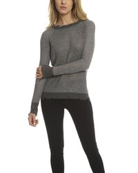 RTA Gray Cassandra Raglan Sweater