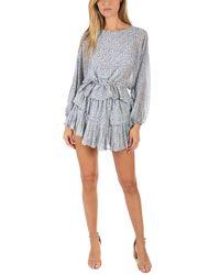 LoveShackFancy Blue Ruffle Mini Skirt