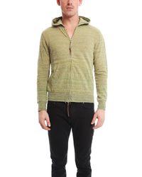 Remi Relief - Yellow Silk Nep Zip Hoody for Men - Lyst