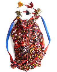 Simone Camille - Brown Textile Moon Bag - Lyst
