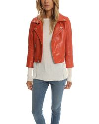 Ganni | Red Passion Biker Jacket | Lyst