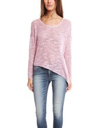 Helmut Lang | Pink Asymmetrical Hem Pullover | Lyst