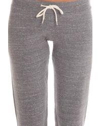 Monrow - Gray Fleece Vintage Sweats - Lyst