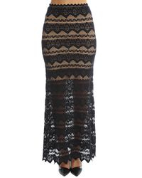 Nightcap | Black Sierra Lace Maxi Skirt | Lyst