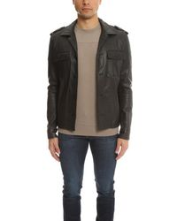 Simon Spurr | Black Lamb Leather Military Jacket for Men | Lyst