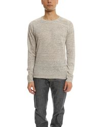 Todd Snyder | Natural Saddle Pocket Crewneck Sweater for Men | Lyst