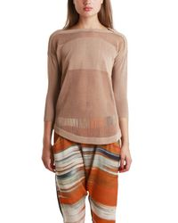 VPL | Brown Cocoon 3/4 Sleeve Pullover | Lyst