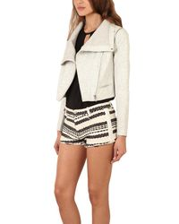 Yigal Azrouël - Gray Leather Jacket - Lyst