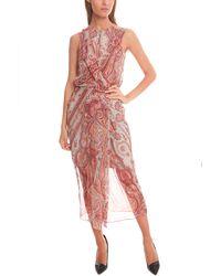 Zimmermann | Multicolor Rhythm Drape Tunic Dress | Lyst