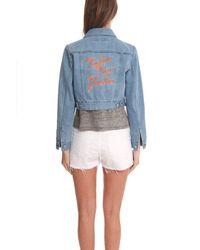 Être Cécile Blue Native New Yorker Cropped Jacket