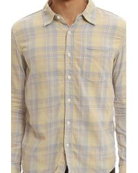 Remi Relief - Yellow Madras Check Shirt for Men - Lyst