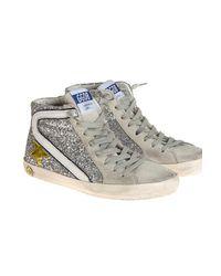 Golden Goose Deluxe Brand Metallic Slide Glitter Sneakers