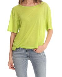 Acne - Yellow Wonder Tencil T-shirt - Lyst