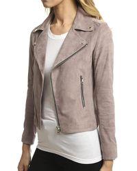 RTA Pink Nico Biker Jacket