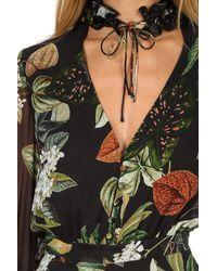 Nicholas Black Wrap Flounce Maxi Evie Floral