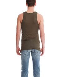 Acne Green Roth Tank for men