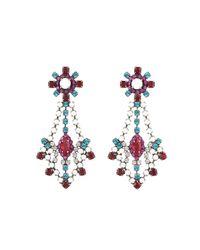 DANNIJO - Metallic Grace Crystal Statement Earrings - Lyst