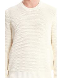 Acne White Cusco Bubble Sweater for men