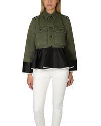 Harvey Faircloth Green Od Field Peplum Jacket