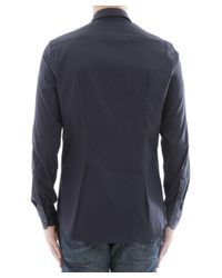 Prada - Men's Blue Cotton Shirt for Men - Lyst