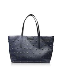 Jimmy Choo - Women's Blue Leather Tote - Lyst