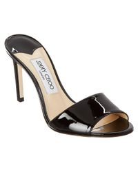 Jimmy Choo - Black Stacey 85 Patent Mule - Lyst