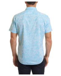 Robert Graham - Blue Classic Fit Coolbrook Woven Shirt for Men - Lyst