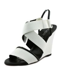 ALDO - White Glalle Open Toe Canvas Wedge Heel - Lyst