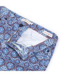 Tory Burch - Blue Women's Multicolor Cotton Pants - Lyst