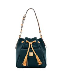 Dooney & Bourke - Black City Drawstring Shoulder Bag - Lyst