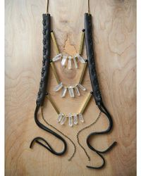 Love Leather - Multicolor Crystal Disco Necklace - Lyst