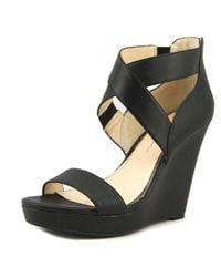 Jessica Simpson - Black Jamilee Women Open Toe Synthetic Wedge Heel - Lyst
