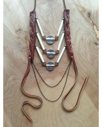 Love Leather - Multicolor Amber Sunset Necklace - Lyst